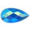 Glitter Sew-on Stone 10pcs Drop 16x30mm Royal Blue Aurora Borealis
